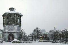Rússia Ekaterinburg A torre de água no quadrado histórico Fotos de Stock