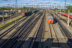 Rússia Estação de trem perto de Arzamas 2 Fotografia de Stock Royalty Free