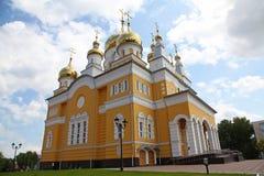 Rússia A igreja de Cyril e de Methodius em Saransk foto de stock royalty free