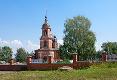 Rússia, igreja em Volgorechensk imagem de stock royalty free
