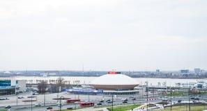 Rússia, Kazan em maio de 2018: Opinião da cidade da paisagem imagem de stock royalty free