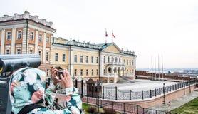 Rússia, Kazan em maio de 2018: Opinião histórica da construção foto de stock