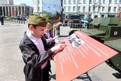 Rússia marca o 70th aniversário da vitória do anti-fascista com parada grande Foto de Stock Royalty Free