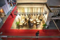 RÚSSIA, MOSCOU - ABRIL, 04, 2019 exposições da expo do açafrão da construção e materiais de terminação fotos de stock royalty free