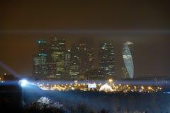 Rússia Moscou em setembro de 2017 Cidade de Moscovo na noite Imagens de Stock Royalty Free
