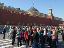 Rússia, Moscou - excursão ao quadrado vermelho Foto de Stock Royalty Free