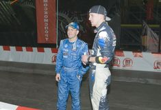 Motoristas de carro de corridas Fotos de Stock Royalty Free