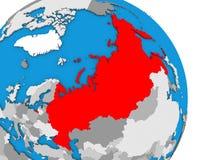 Rússia no globo ilustração stock