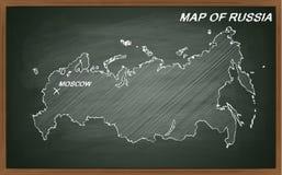 Rússia no quadro-negro Imagens de Stock