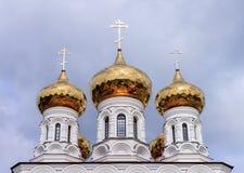 Rússia O Golden Dome do templo Imagem de Stock Royalty Free
