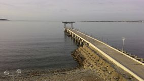 Rússia O Mar Negro Gelendzhik cais Gaivota streetlight imagem de stock royalty free