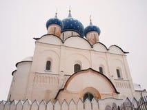 Rússia ortodoxo. Catedral antiga Imagem de Stock Royalty Free