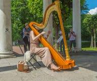 Rússia, parque de Pavlovsk, o 22 de julho de 2017 no parque no festival imagens de stock royalty free