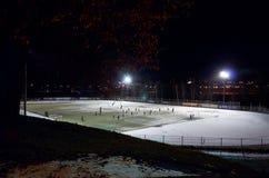 Rússia Petrozavodsk Ostenta o estádio em Petrozavodsk 15 de novembro de 2017 Imagem de Stock Royalty Free