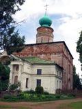 Rússia rostov Monastério de Rostovsky Borisoglebsky Vista detalhada da igreja de Boris e de Gleb fotos de stock