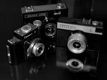 Rússia samara 30 de abril de 2017 A empresa velha da câmera do filme da mudança em uma imagem retro Fotografia de Stock