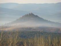 Rússia Sibéria o norte de Buryatiya o mundo a estrada do inverno da natureza Imagens de Stock Royalty Free