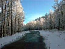 Rússia Sibéria o norte de Buryatiya o mundo a natureza a estrada da montanha da paisagem Fotos de Stock