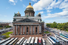 Rússia, St Petersburg, a catedral de Isaac, 07 14 2015 imagem de stock
