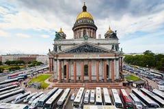Rússia, St Petersburg, a catedral de Isaac, 07 14 2015 Imagens de Stock