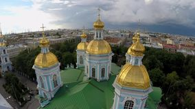 Rússia St Petersburg Catedral naval de São Nicolau filme