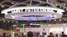 Rússia, St Petersburg, em junho de 2017 - fórum econômico internacional de St Petersburg filme