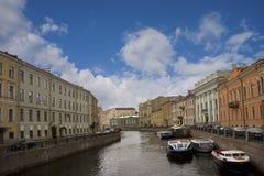 Rússia, St Petersburg, rio Fotografia de Stock Royalty Free