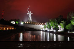 Rússia volgograd Mamaev Kurgan O monumento Fotos de Stock