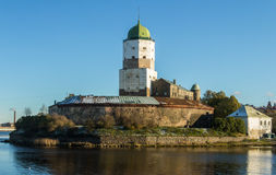 Rússia, Vyborg, castelo escandinavo medieval Imagem de Stock