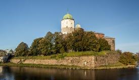 Rússia, Vyborg, castelo escandinavo medieval Imagem de Stock Royalty Free
