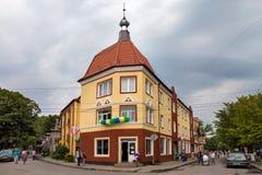 RÚSSIA, ZELENOGRADSK - 3 DE SETEMBRO DE 2016: Casa alemão velha em Zelenogradsk ( Cranz) imagens de stock