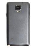 Rückendeckel des intelligenten Telefons des fünf-Zoll-Schwarzen mit Isolathintergrund Lizenzfreie Stockfotos