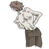 Rückenprobleme Stockbild