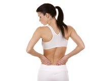 Rückenschmerzen Stockfotografie