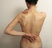 Rückenschmerzschmerz lizenzfreies stockbild