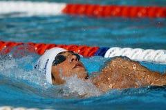 Rückenschwimmen: Alpe Adria Sommer-Spiele 2010 Stockfotografie
