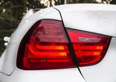 Rücklicht von BMW auf Rot, Deutschland, 2015 Stockbilder