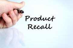 Rückruf- eines fehlerhaften Produktestextkonzept stockfotos