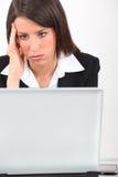 Rückschlag bei der Arbeit Lizenzfreies Stockbild