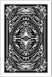 Rückseite 60x90 Millimeter der Spielkarte Stockfoto