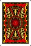 Rückseite 60x90 Millimeter der Spielkarte Stockfotografie