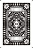 Rückseite 62x90 Millimeter der Spielkarte Stockfoto