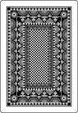 Rückseite 62x90 Millimeter der Spielkarte Lizenzfreies Stockbild