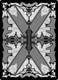 Rückseite 65x90 Millimeter der Spielkarte Stockfotografie