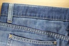 Rückseite Beschaffenheit von Blue Jeans Lizenzfreies Stockbild
