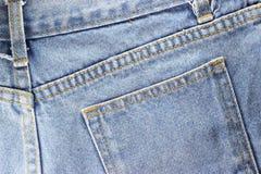 Rückseite Beschaffenheit von Blue Jeans Stockfoto