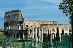 Rückseite Colosseum, Rom stockfotografie