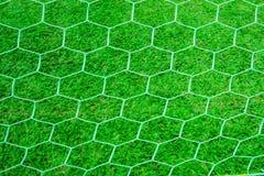 Rückseite das Ziel am Fußballplatz Stockfotografie