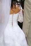 Rückseite der Braut Stockfoto