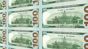 Rückseite der neuen 100 Ansicht der Dollarscheine 3d Lizenzfreie Stockfotos